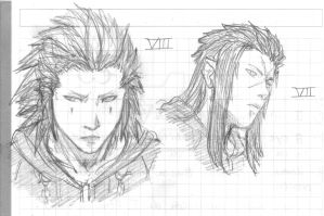 Saix and Axel by AurelGweillys
