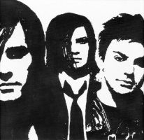 Jared, Tomo + Shannon Painting by Groovyfrem