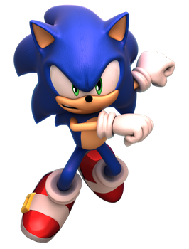Sonic Forces - Boxart Modern Sonic Render by alsyouri2001