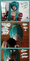 Miku wig cutting by kecsy