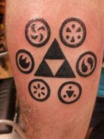 Zelda Tattoo Triforce OoT Sage Medallions by Krukmeister