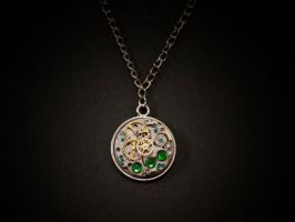 necklace - steam cogs'n'green by Sizhiven