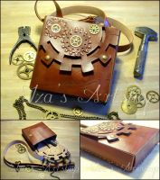 Steampunk Shoulder Bag IV by izasartshop