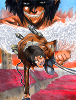 Attack on Titan Aerial Assault by Pixelated-Takkun