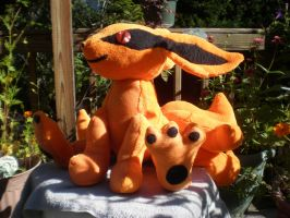 Baby Kurama by cosmiccrittercrafts