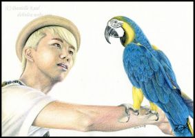 YoungJae and Macaw by Delinlea