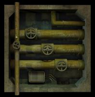 Steam Junction Wall by Nuclear-Fridge
