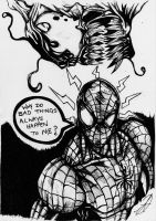 spiderman and carnage by darkartistdomain