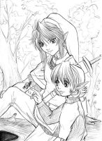 Link and child Saria by Autumn-Sacura
