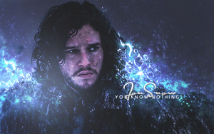 You know nothing, Jon Snow. by rafdesigns