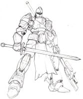 holy templar mech by blackswordsman28