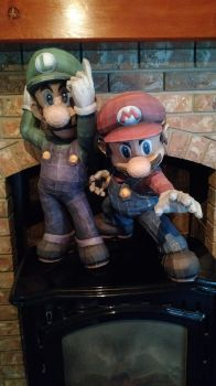 Mario Brothers by Nohlis