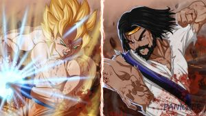 Goku vs. Jesus? by Panickerz