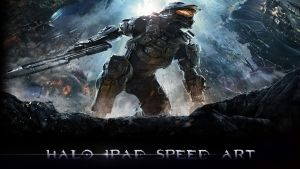 halo ipad speed art (link in description) by 9-Breaker