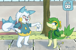 Waiting for the bus by Pizaru-Chu