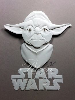 Yoda Paper Sculpture by 8thLeo