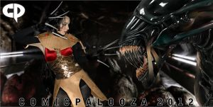 Lady Deathstrike Vs. Alien @comicpalooza 2012 by dreamerl85