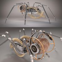 Mechanical Spider | Side - Back by abdelrahman
