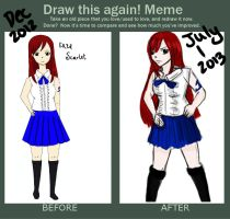 Erza Scarlet: Before and After by Ssu-Chan