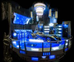 Batcave dio front view by reddiorama