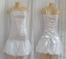 White fairy balloon dress by funkyfunnybone