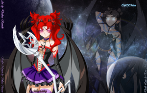 Sailor Imperial Nemesis and Death Lady wallpaper by CatOfDeadMoon