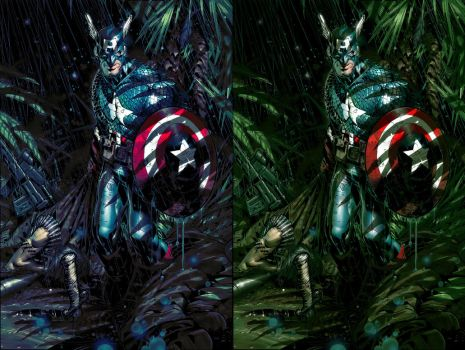 Bachalo - Townsend's Captain America (My colours) by RawSunlight