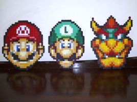 Mario Faces: Group 1 by rebornflame