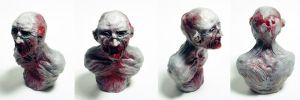 Mini Zombie Bust by Devin-Francisco
