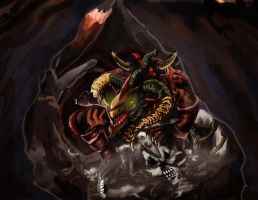 Red Dragon Archfiend Scarright by Bloo-DKai12
