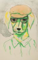 Hello, this is dog //freaking hipster.. by CY-ARTistmonkey
