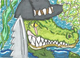 Leatherhead sketch card by kylemulsow
