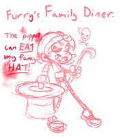 FNAF crossover doodle by OfficialFlygon