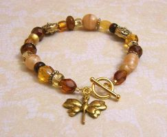 Tiny amber treasures bracelet by asukouenn