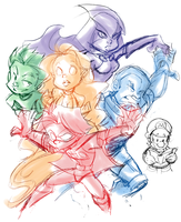 scribbled titans by thweatted