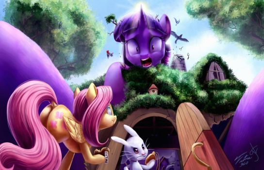 Twilight In Wonderland _ Collab with GoatTrain by Tsitra360