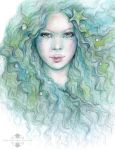 From The Sea in Pastel and Colour Pencil by Mocten