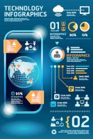 Infographic and Mobile Diagram Vector Graphics by Designslots