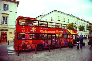 Warsaw 104 red bus by remigiuszScout