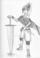 Girl with Big Sword by gn27