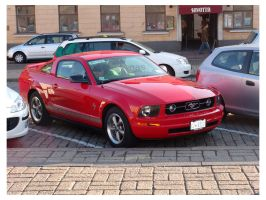 Red Mustang by mitch2004