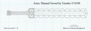 Aztec Themed Sword by Ironstaff