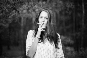 smoking black and white by snolover