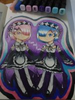 Ram and Rem by Caremelblue