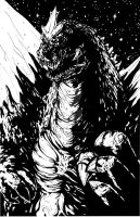 Spacegodzilla Gfest 2010 by KillustrationStudios
