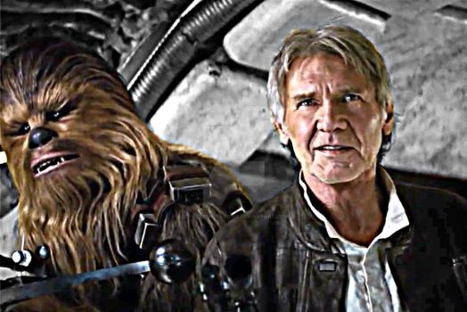 Han and Chewie by CheeseyPotatoPie