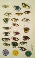 KSJ eyes colored pencil drawing and coloring by MistressOfDecay