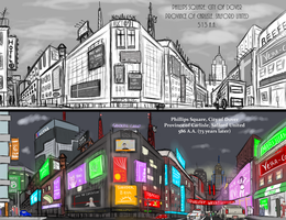 Phillips Square  Before and After by CharlieChan69