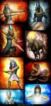 Egyptian Gods by ThoRCX