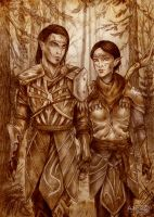 Dragon age_ Merrill and Mahariel by Agregor